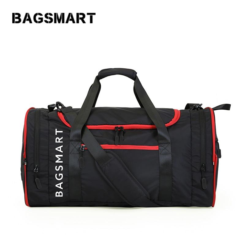 BAGSMART Bolsas de viaje multifuncionales Bolsa de viaje de nylon impermeable de gran capacidad
