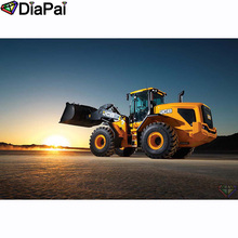 DIAPAI 100% Full Square/Round Drill 5D DIY Diamond Painting Car sunset scenery Embroidery Cross Stitch 3D Decor A20910