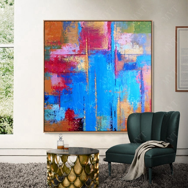 Amazing Us 18 3 39 Off Large Hand Painting Hot Sale Abstract Frame Painting On Canvas Wall Picture Living Wall Art House Decoration In Painting Download Free Architecture Designs Embacsunscenecom