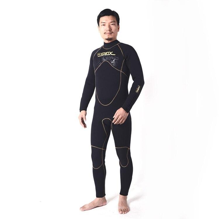 Combinaison homme néoprène 5mm plongée sous-marine combinaisons Surf Surf une pièce corps complet longue combinaison humide avec capuche avant fermeture éclair combinaison de plongée - 6