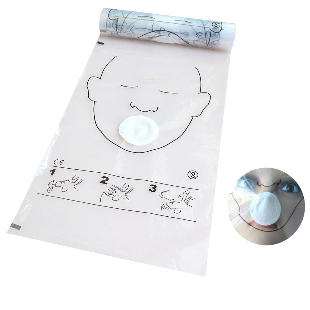 12 шт./лот, 36 шт./рулон, реаниматорная маска CPR, маска для лица CPR, рулон для обучения CPR, аптечка первой помощи, инструменты для ухода за здоровье...