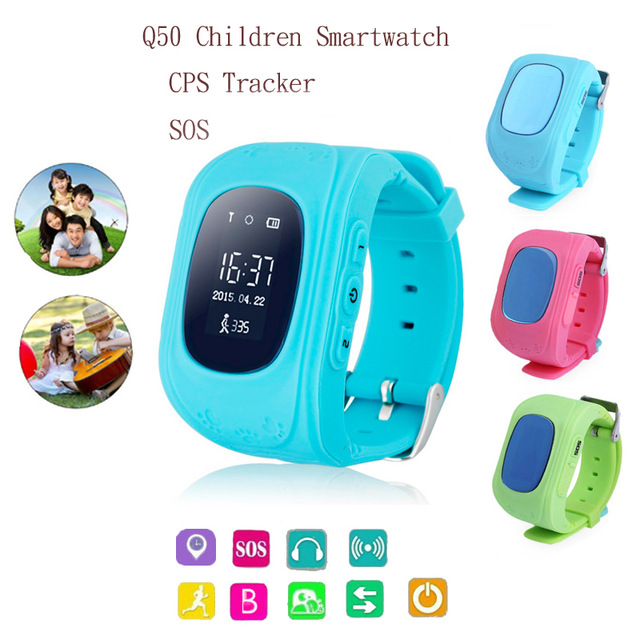 Hot Sale Anti Lost GPS Q50 W5 font b Smart b font Phone Tracker Wristband Kids