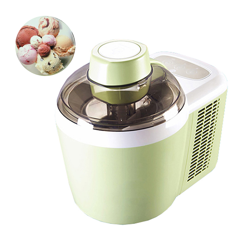 home full automati ice cream machine household intelligent ice cream maker 0.5-1L 240V ICM-700A-1 home intelligent fully automatic american style coffee machine drip type small is grinding ice cream teapot one machine