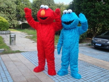 Adult size Cookie monster mascot costumes for sale adult  elmo mascot costume  Free shipping elmo mascot