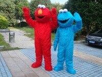 Erwachsene größe Cookie monster maskottchen kostüme für verkauf erwachsene elmo maskottchen kostüm Freies verschiffen elmo maskottchen