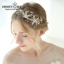 Роскошная золотая Свадебная заколка с кристаллами свадебная
