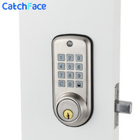 Electronic Digital Door Lock Smart Keypad Locker Lock, Intelligent Cheap Code Door Lock High Security Safe with Single Deadbolt