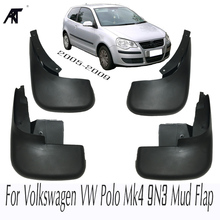 Molded Mud Flaps For Volkswagen VW Polo Mk4 9N3 2005 2009 Mudflaps Splash Guards Front