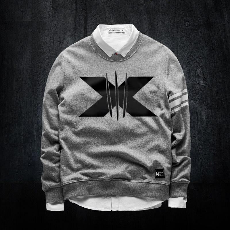 Mavel X-Men Crew Neck Sweatshirts For Mens Autummn Luminous Printed Hoodie Winter Coat XXXL For Youth