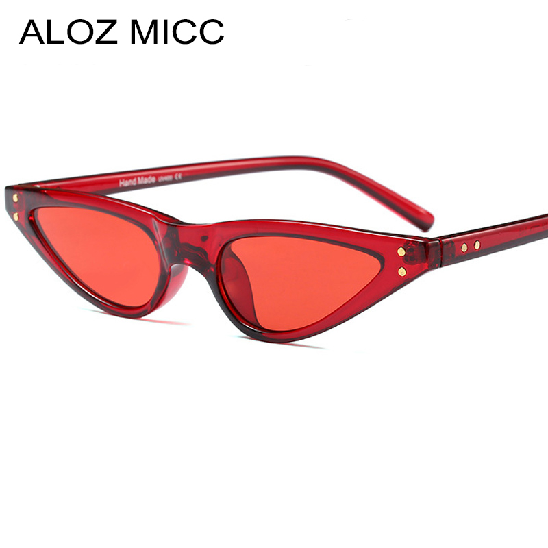 ALOZ MICC Fashion Cat eye Sunglasses Women Luxury Brand Designer Unique Triangle Acetate Frame Sexy Women Sunglasses UV400 Q187 in Women 39 s Sunglasses from Apparel Accessories