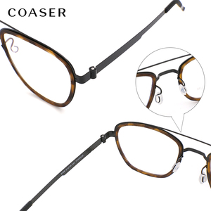Image 5 - NEW Men eyeglasses Titanium Glasses Frame Denmark Brand Design Vintage Round prescription optical  Myopia eyewear metal