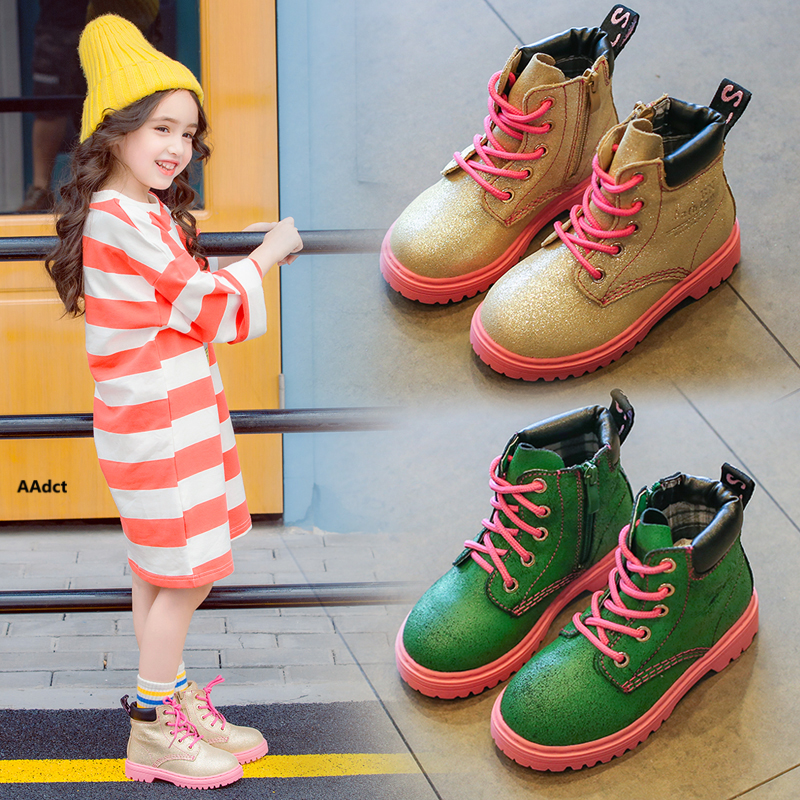 AAdct spring autumn new girls boots fashion princess children boots 2017 Brand High-quality rubber kids boots for boys new style 2017 girls classical boots autumn and spring fashion leather boots with bow bottom princess warm high quality shoes