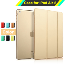 Ultra Thin Smart Case Cover for Apple iPad Air 2 iPad 6 PU Leather Tablet Folding Folio Cases Auto Wake / Sleep