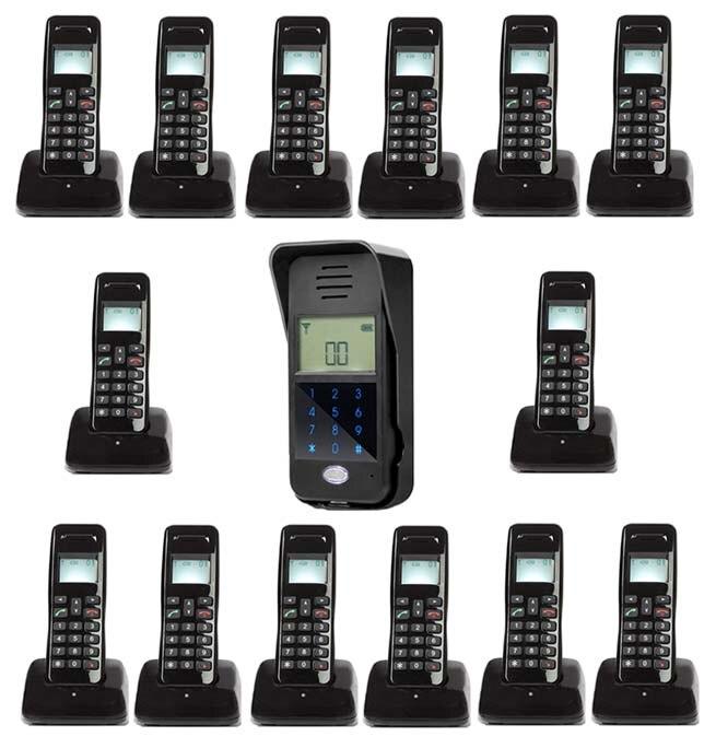 Passwort Entsperren/intercom System Für 14-wohnungen Sicherheit & Schutz Türsprechstelle Mountainone Neue Arrivial Drahtlose Digitale Audiio Tür Telefon