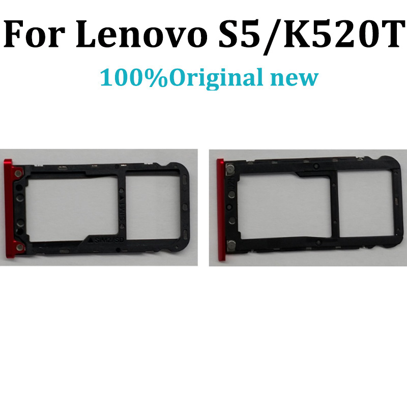 Original For Lenovo S5/K520T Sim Tray Holder For Lenovo K520-T Card Reader Tray Holder Slot For Lenovo S 5 Replacement Parts