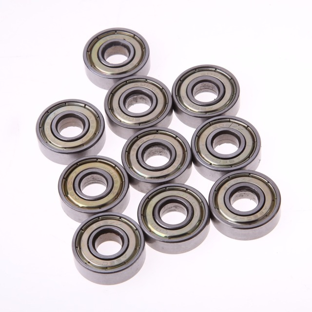 10pcs 608ZZ Stainless Steel Skateboard Scooter Ball Roller Double Shielded Deep Groove Ball Bearings Skate Bearings Wheel Tools