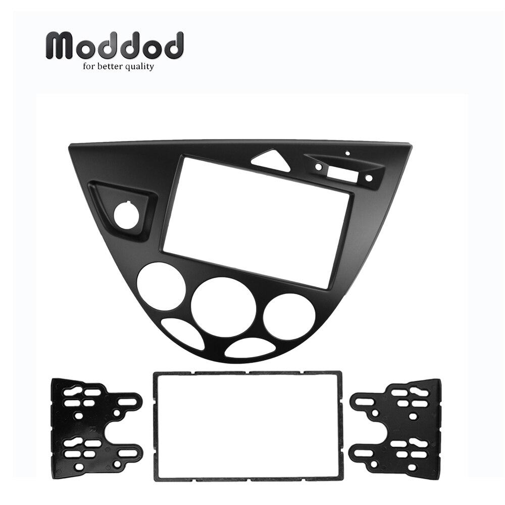 Pour conduite à gauche Ford Ford Focus/Fiesta Fascia Radio réaménagement du tableau de bord Double Din stéréo panneau Installation kit d'outils pour habillage Face