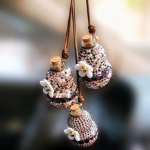 Car Pendant Ornaments Rearview Mirror Pendants Decoration Key Rings Hanging Diamond Gourd Fragrance Chain Auto Accessories