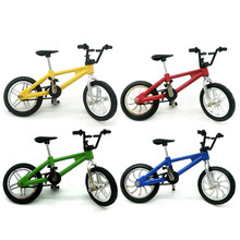 Mini Alloy Finger BMX Bicycle Box Kit Flick Finger Bikes with Tools Toys Model TechDeck Gadgets Toys for Kids(China)