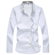 Shirt Mens Extra Large Size S-8XL Solid Color Cotton Comfort Lapel Simple Casual Slim Long Sleeve Four Seasons Wearable
