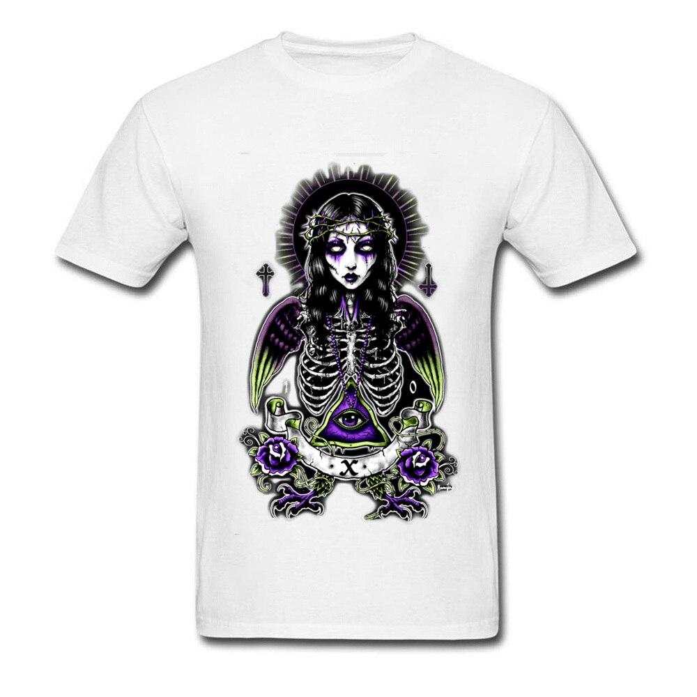 Dark Souls Death Light Eyes Geek T Shirt For Men Horror Film T-Shirt Free Shipping 100% Cotton Crew Neck Tee Shirts Rose Flowers