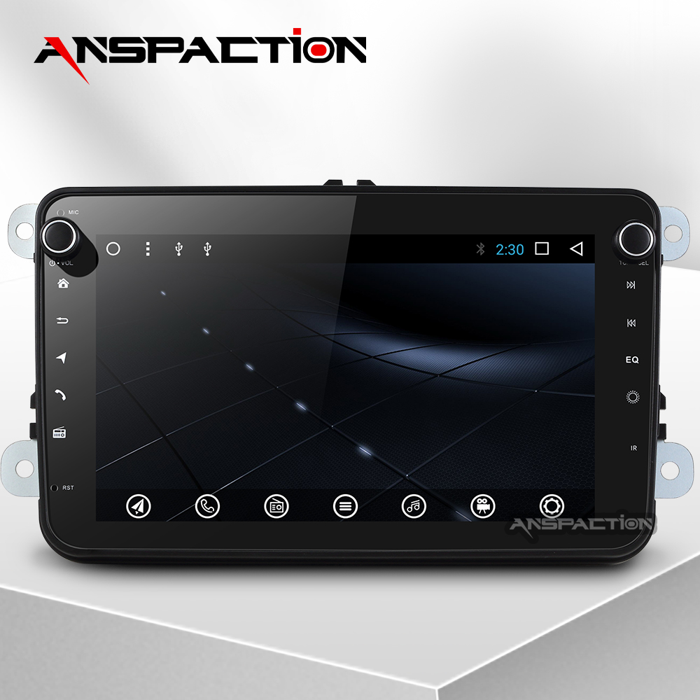 Lecteur multimédia de voiture Android 7.1 Auto Radio pour Skoda/Seat/Volkswagen/VW/Passat b7/POLO/GOLF 5 6 DVD GPS navigation