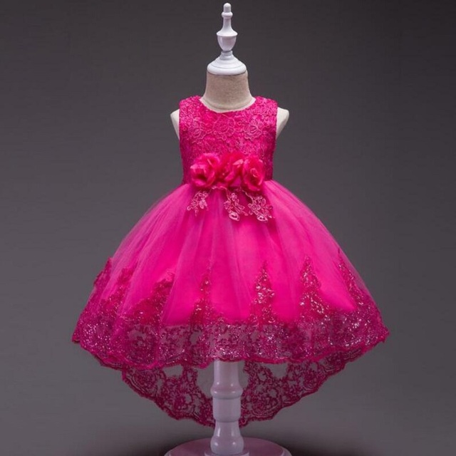 Baby Girl Dress Summer 4 12 Year Old Flower Vestidos 5 Color Wedding Party Clothing Birthday