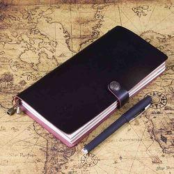 Standardowy rozmiar prawdziwej skóry wielokrotnego napełniania notatnik planowanie pamiętnik notatnik biznesowy ręcznie notes podróżnika