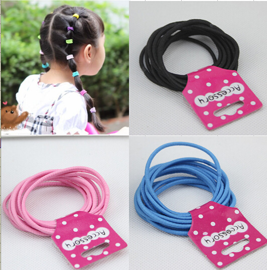 10pcs/lot colorful Hair Ornaments bandage head kids girls Headband elastic band Ring Circle Gum Scrunchies hair accessories 655 hot sale hair accessories headband styling tools acessorios hair band hair ring wholesale hair rope