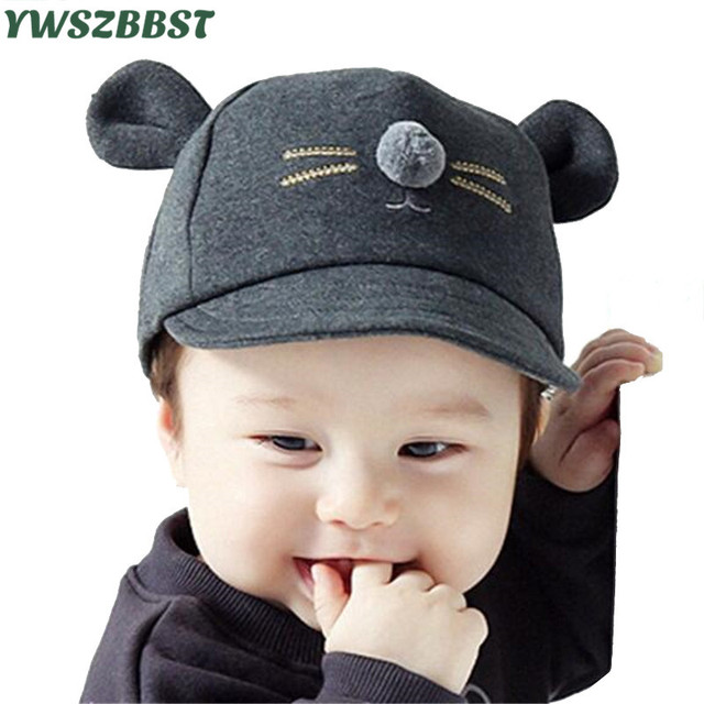 fcd1649f980 Sweet Cute Mouse Baby Hat Summer Autumn Kids Caps Boys Girls Baby Hat  Beanie New Children Caps