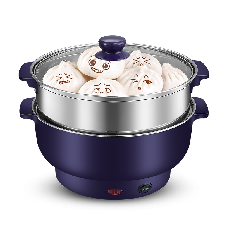 Household Dorm room Multi-function Electric Skillet 1.5L capactiy Electric Caldron Steam/ Boil / Stew soup Cooker cukyi household electric multi function cooker 220v stainless steel colorful stew cook steam machine 5 in 1