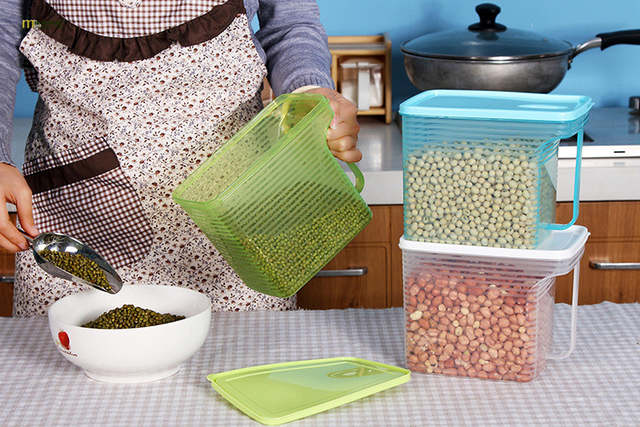 74839dd8f85c placeholder 1PC kitchen food storage box storage tank airtight plastic  containers sealed cans for coarse cereals grains