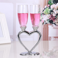 2 PCS Set Lovers Crystal Wedding Toasting Champagne Flutes Glasses Cup Wedding Party Marriage Decoration Wine