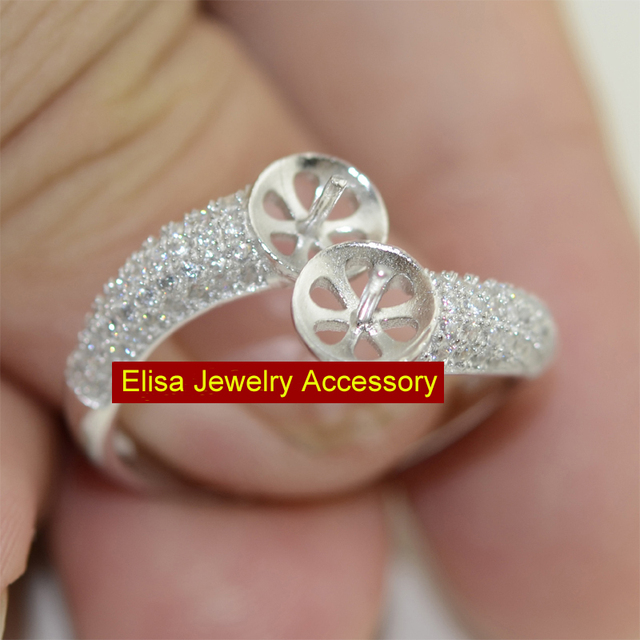 Fashion 925 Sterling Silver Rings Acc Silver Ring Holder Women DIY