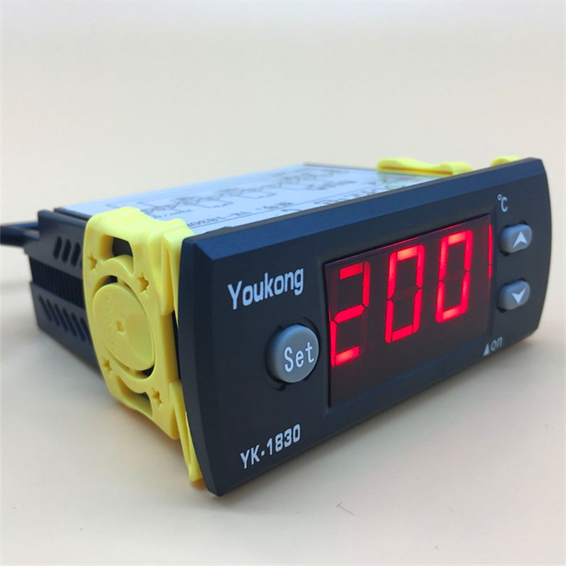 AC 220V 10A Digital LCD Temperature Controller With 2m Sensor Thermostat Regulator Heater 0~200 Degrees Thermostat For Incubator