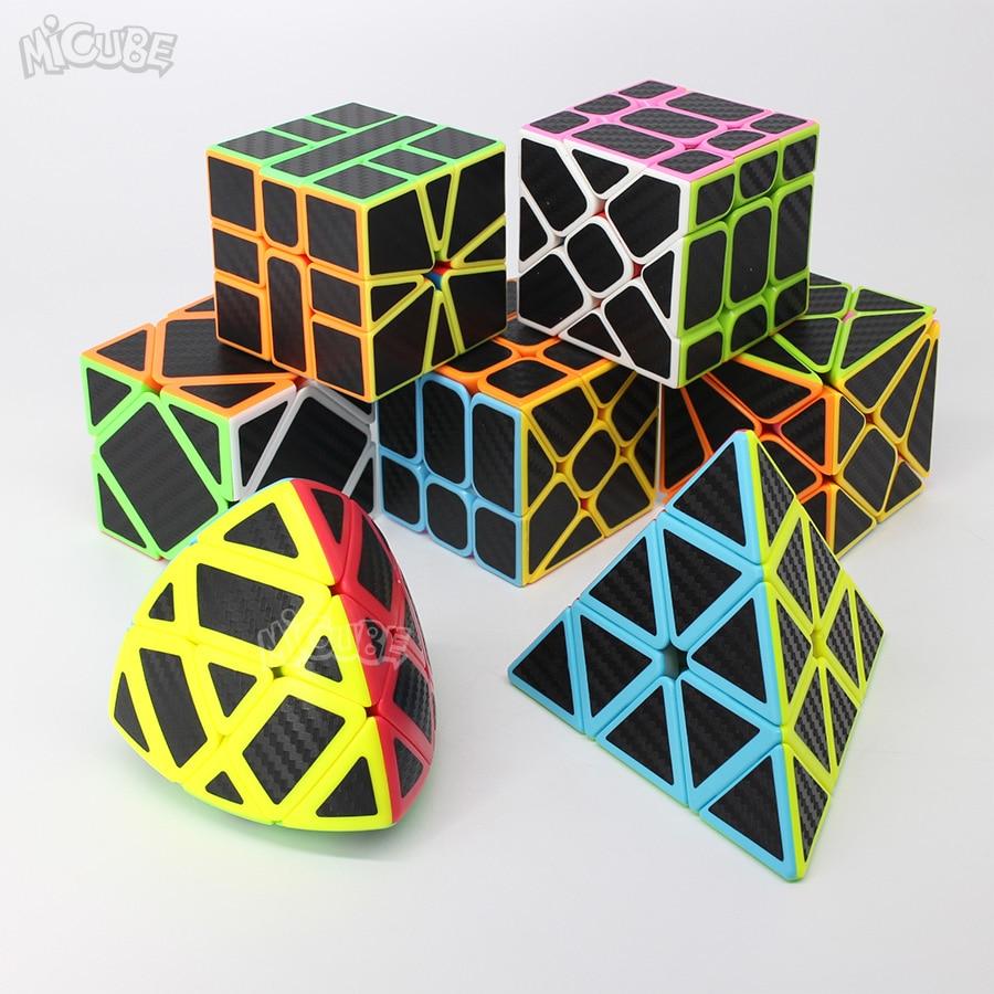 Carbon Fiber Cube Magic Cube Speed 3x3x3 2x2 3x3 4x4 5x5 Pyramid SQ1 Skew Puzzle Neo Cubo Magico 2x2x2 4x4x4 Toys For Children