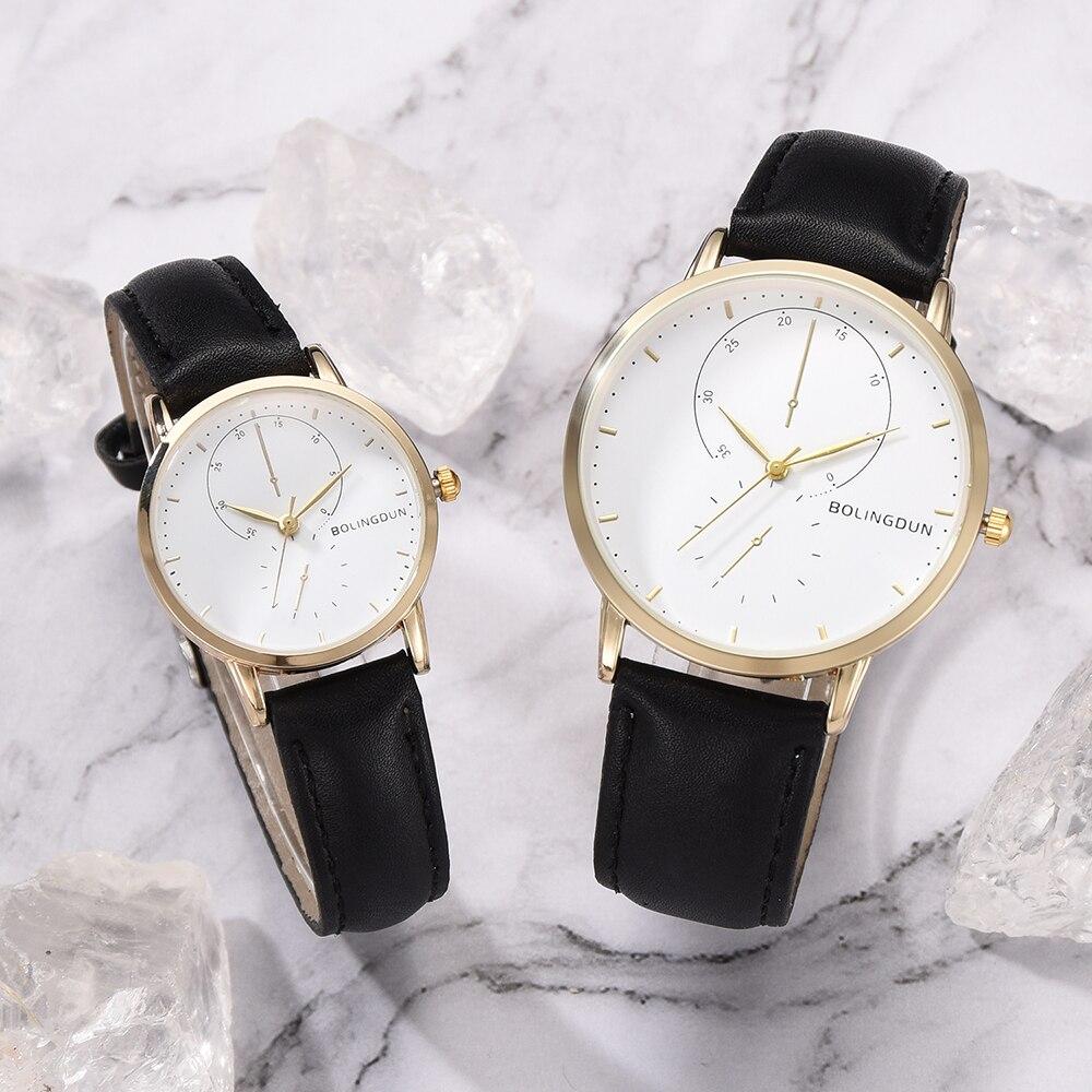Fashion Lovers Watches Men Women Casual Leather Strap Quartz Watch Women's Dress Couple Watch Clock Gifts Relogios Femininos