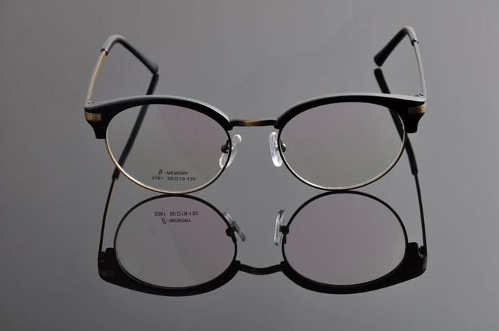 DEDING винтажные очки ретро Женская оправа с линзами при миопии Мужские Рецептурные очки оправа модные очки DD0886 - Цвет оправы: shiny black