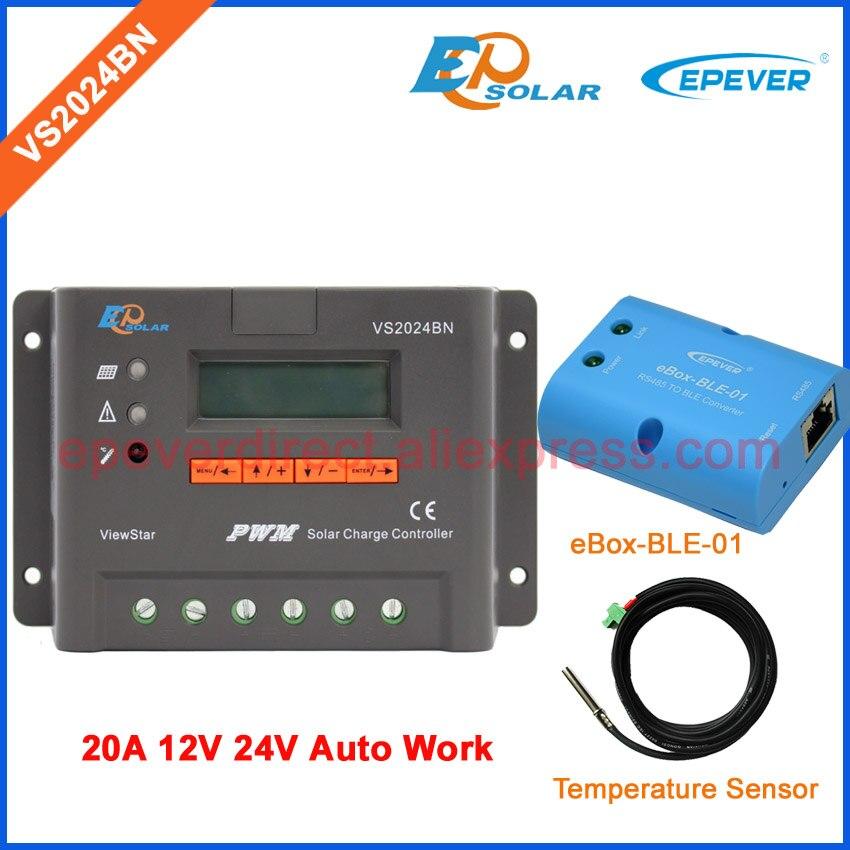 Régulateur de chargeur de cellules solaires 20A marque EPEVER produit d'origine VS2024BN avec capteur de température et fonction bluetooth