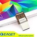 Entrega rápida com correio aéreo registrado!! original eaget v9 oficial licenciado micro usb flash drive usb otg 8g 16g 32g em venda