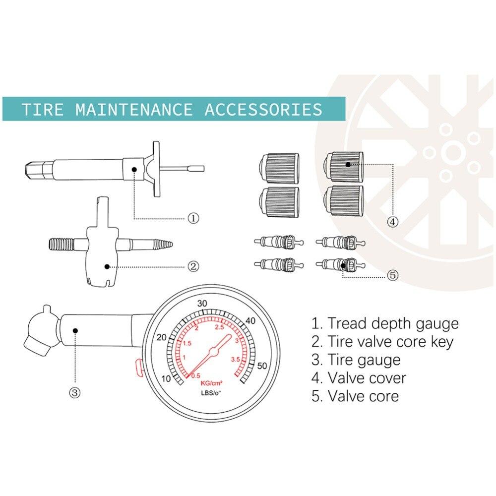 US $2 84 5% OFF|New tire Air Pressure gauge Auto Motor Car Truck Bike Tyre  Tire Air Pressure Gauges Dial Meter Vehicle Tester tire repair tool-in