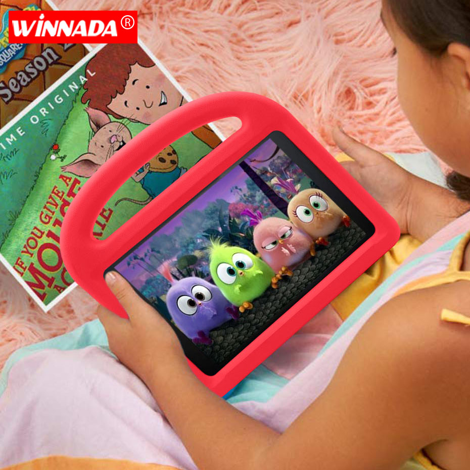 For Amazon 2017 New Kindle Fire HD8 2018 Case Non-toxic EVA Kids Cover For All New Fire HD 7th Generation Display Tablet Cove