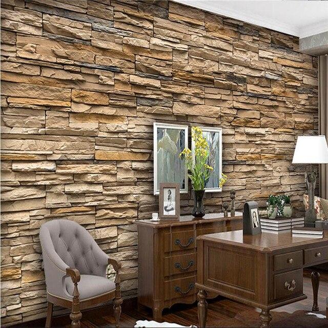 Moderne Malerei Für Wohnzimmer Hintergrund Fotografie HD Steinimitat  Mauerwerk Fassaden Hotel Badroom Wand Tapete Wandbild