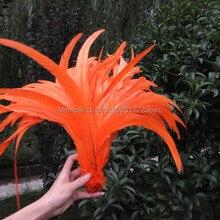 30-35 см/12-14 дюймов чистый оранжевый петух хвост Перья Куриные перья петуха хвост перо петуха хвост Coque перья 10 шт