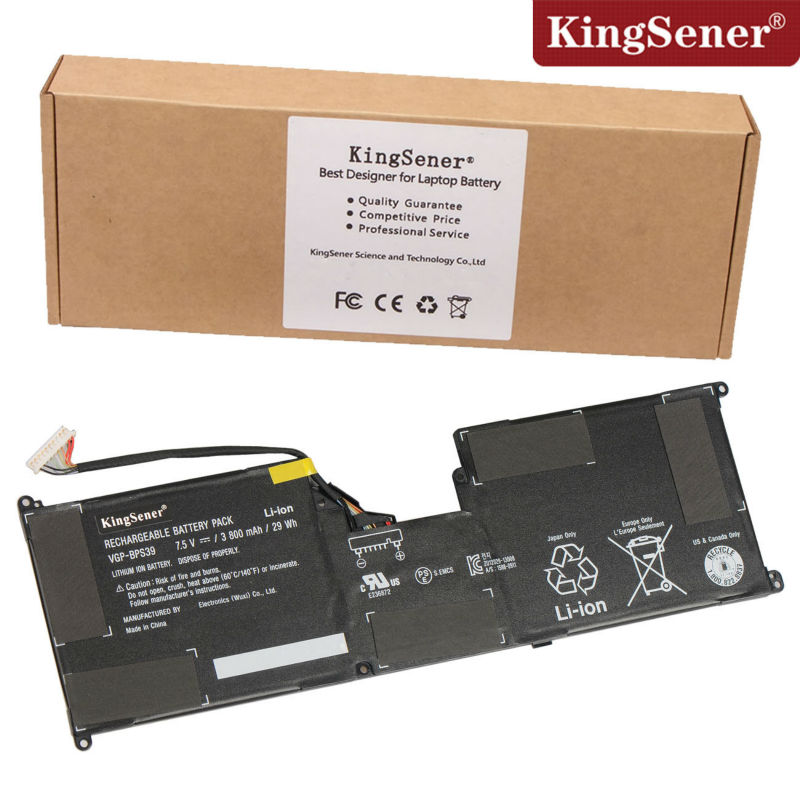 KingSener 7.5V 29WH  Laptop Battery VGP-BPS39 for Sony for Vaio Tap 11 SVT11213CXB SVT11215CW  SVT11223CGW SVT11219SCW планшет sony vaio tap 11 на windows 8 core i5