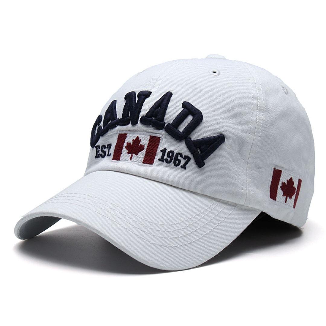 2018 Canadá Gorras Boné de Beisebol Da Bandeira De Canadá Chapéu Snapback  Ajustável Bonés de Beisebol Dos Homens Snapback Sunhat Chapéu Do Camionista  BBYES ... 3e16d1918fa