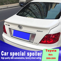 Golden Style high quality ABS spoiler for toyota mark X Reiz spoiler 2006 2007 2008 2009 year customize primer color DIY paint