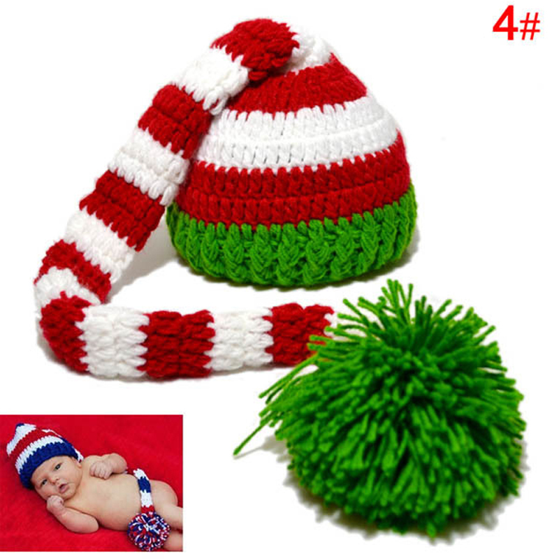 NOUVEAU! ELF Chapeau Nouveau Né, Bébé Lutin Bonnets De Noël Faits À La Main  Au Crochet Accessoires de Photographie Bébé Chapeau BH0849 dans Chapeaux et  ... 43ea733427d