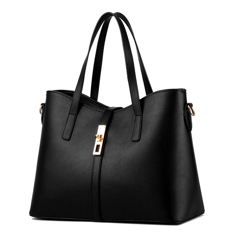 Femmes Noir Sac Bandoulière Élégant Main Épaule Simple Lady Zipper Messenger Pu À Office Cusual qawxxItd