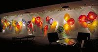 Top Design Multi Color Blown Glass Wall Plates For Hotel Decor